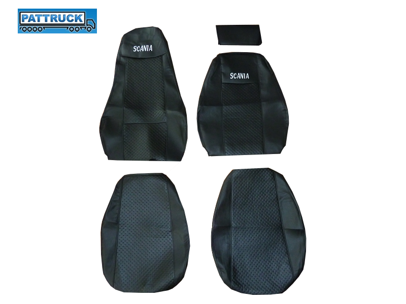 SCANIA R 2005 2012 BLACK PAIR OF TRUCK SEAT COVER ECO