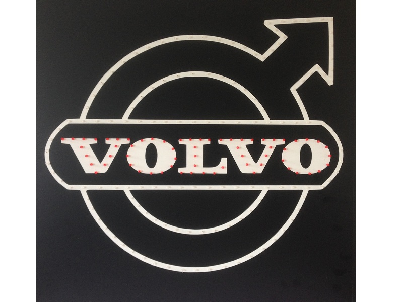 volvo truck led logo light board 24v dimmer wireless remote control 50cm 50cm ebay. Black Bedroom Furniture Sets. Home Design Ideas